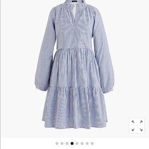 Jcrew tiered popover dress